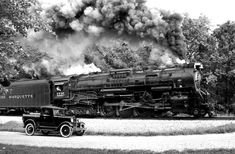At King Road in Owosso, Michigan, Pere Marquette 1225, a 2-8-4 Berkshire   ..rh