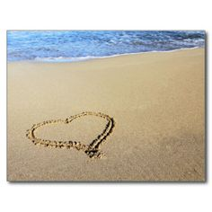 Heart in Sand #postcard #sold on #zazzle