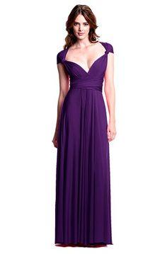 Sakura Long Convertible Dress Plum Purple