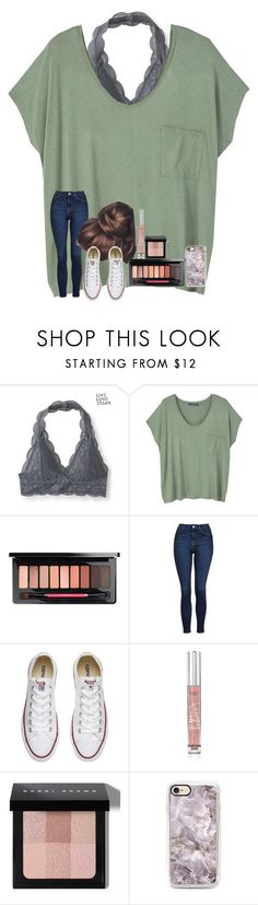 """hacked by saige❤"" by anabelkd ❤ liked on Polyvore featuring Aéropostale, MANGO, Topshop, Converse, Victoria's Secret and Bobbi Brown Cosmetics"