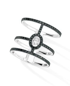 something special La bague Glam'Azone en diamants noirs de Messika