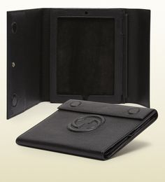 Gucci Soho Leather Standing Ipad Case in Black for Men | Lyst