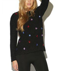 Jewel Popcorn Sweater