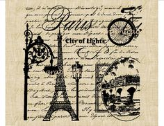 Paris City of Lights digital instant download image by graphicals