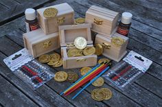 Pirate Party Favor DIY Treasure Chest for Party of 6 on Etsy, $40.00