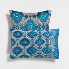 TURQUOISE EMBROIDERED CUSHION COVER