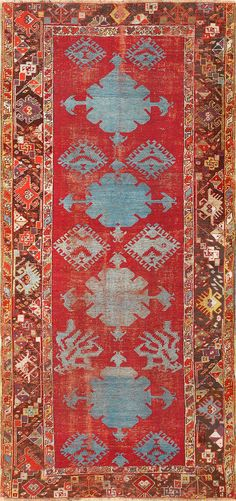 18th Century Antique Turkish Kirshehir Rug 48026
