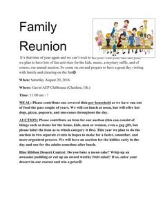 family reunion welcome letter printable example of family reunion program grand rapids 21656 | 242481dd465e352fb39fe3fc4b9e1d4a family reunions flyer
