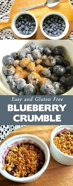 This blueberry crumble recipe is healthy and so easy to make. It is perfect for breakfast, dessert or make it in a large dish for pot lucks. It can also be made gluten free, and does not contain a lot of sugar!