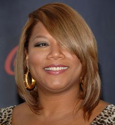 Queen Latifah Bob  Queen Latifah's layered bob hairstyle perfectly framed her face.