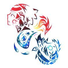 Tribal Ruby + Sapphire by Kyuukeru.deviantart.com on @DeviantArt
