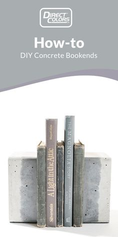 Concrete is so simple yet so versatile, making it a super easy material to work with for all of your crafting endeavors! There are so many ways you can shape and decorate concrete to be both functional and stylish. These DIY Concrete Bookends are the perfect example! They're a great way to add dimension, color, and a modern feel to your home and decor. Thank you to Direct Colors' customer Jessica Lugo for sending us photos of her DIY Concrete Bookends for this project! Let's get started!