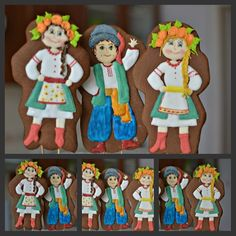 Украина Ukrainian Recipes, Ukrainian Art, Cookie Decorating, Gingerbread Cookies, Arts And Crafts, Sweet, 3d, Inspiration, Biscuits