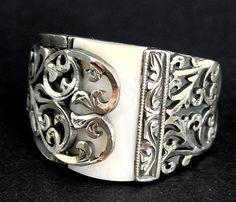 925 sterling silver men's ring, handmade works of art and ethnic design unique design , mother of pearl stone on Etsy, $97.00