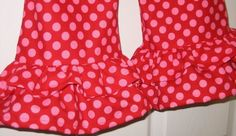 I MUST learn to sew! These polka dot ruffle pants are Adorbs!