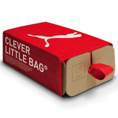 Waiting for Puma to actually use these in stores so I have an excuse to a) get new shoes, and b) get neat packaging! San Francisco designer Yves Béhar of Fuseproject has created eco-friendly packaging for footwear brand Puma  that is half bag and half box.