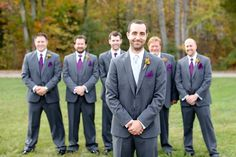 33 Handmade Rustic Purple And Gray Wedding Stuff Ideas - VIs-Wed Groomsmen Attire Purple, Rustic Groomsmen Attire, Groomsmen Colours, Groomsmen Grey, Groom Attire, Grey Purple Wedding, Orange Wedding, Fall Wedding, Diy Wedding