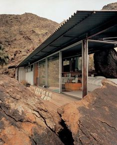 Albert Frey (1903-1998) helped shape Palm Springs into the modern architecture mecca it is known as today, developing a style of building known as Desert Modern - with walls of glass, flat sweeping roofs and corrugated metal.