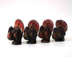 Vintage Turkey Candles Thanksgiving Decor Gurley by GizmoandHooHa, $20.00