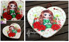 Art by Miran stamp via Whimsy Stamps coloured with copics and decoupaged onto a wooden heart.  Sealed with 3 coats of modge podge