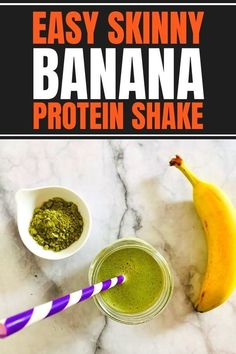 Easy and healthy banana protein shake recipe to lose weight for women. Homemade with a vegan or whey protein powder in vanilla or chocolate flavors. It's a great low calorie breakfast shake for your busy mornings! Skinny Protein, Protein Rich Foods, Protein Shake Recipes, Protein Shakes, Post Workout Drink, Post Workout Nutrition, How To Lose Weight Fast, Lose 10 Pounds Fast, Lose Weight In A Month