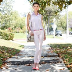 Sunset Boulevard Look by Klique B and Qupid  at DailyLook. Love the soft palette and bag shape!
