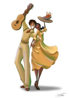 """I am not the biggest fan of Tiana, she is to much """"No time for fun! But Naveen on the other hand is the best! Other (Non-) Disney Characters. Tiana and Naveen Disney And More, Disney Love, Disney Magic, Disney Stuff, Tiana And Naveen, Prince Naveen, Tiana Disney, Disney And Dreamworks, Couple"""