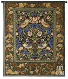 """Strawberry Thief Wall Tapestry by William Morris at Art.com  51"""" x 63"""" $375"""