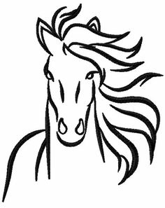 Tribal horse free embroidery design 16 - Tribal collection - Machine embroidery forum