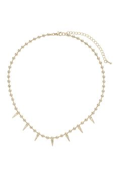 ball chain spike necklace