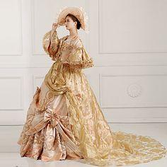 steampunk®georgian Gold viktorianischen Parteikleid Marie Antoinette…
