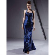 Column Halter Floor-length Taffeta Evening/ Prom Dress in Just USD $119.99 at wholesale price.