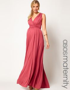 ASOS Maternity Exclusive Maxi Dress In Grecian Drape