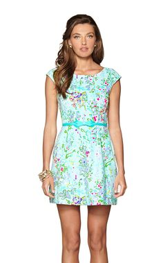 Briella Fit & Flare Dress #lilly #lillypulitzer <3 Yes! I need everything the belt makes its look amazing !!