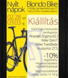 Reklámgrafika: BiondoBike akció, egész oldalas hirdetés. Pies