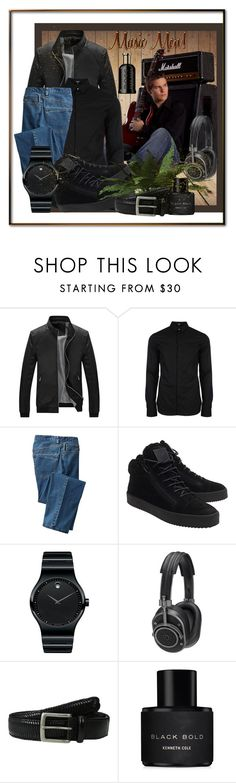 """""""Music Men!"""" by eco-art ❤ liked on Polyvore featuring Versus, TravelSmith, Giuseppe Zanotti, Movado, Master & Dynamic, Tommy Bahama, Kenneth Cole, HUGO, men's fashion and menswear"""