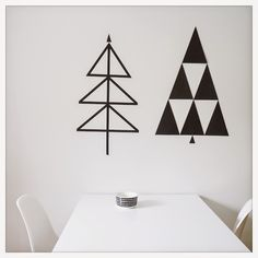 B&W christmas trees at DIY - Design it yourself