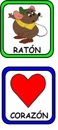 palabras_riman13 Sorting Activities, Kindergarten Activities, Preschool, Spanish Words, Head Start, Learning Spanish, Literacy, Playing Cards, Language