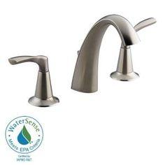 KOHLER, Mistos Widespread bathroom sink faucet in Vibrant Brushed Nickel, K-R37026-4D-BN at The Home Depot - Tablet