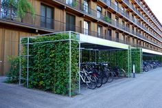 bicycle design architecture Road Cycling - The Concept of the Eco-city Landscape And Urbanism, Urban Landscape, Landscape Design, Urban Design Concept, Urban Design Plan, Bike Shelter, Parque Linear, Eco City, Shelter Design