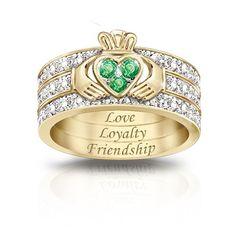 Claddaugh Irish blessing ring- Bing Images...LOVE!