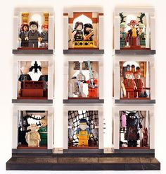 I've seen nice vignettes, but none as nice as these.  And I love the themes running together, as well as the initial setup, with the space between.  Really showcases the minifigs.