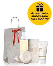 Presente Natura Tododia Macadâmia - Sabonete + Desodorante Hidratante Corporal + Desodorante Hidratante para as Mãos + Desodorante Spray Corporal + Embalagem