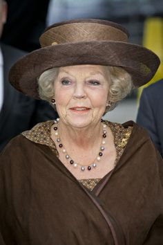 Princess Beatrix, Nov. 26, 2013   The Royal Hats Blog Overlaid Sinamay in Edwardian style. #millinery #judithm #hats
