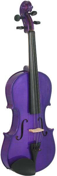 Blue Moon 4/4 Purple Violin Metallic purple finish violin outfit, Solid spruce top, maple body.