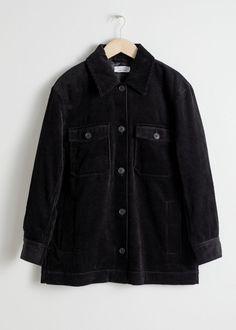 Oversized Corduroy Jacket - Black - Jackets - & Other Stories