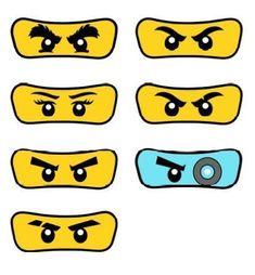 Kindergeburtstag - Ninjago Lego Ninjago Eyes Printables Yüksel Quality Professional Services These photo albums, which . Lego Ninjago Cake, Ninjago Party, Lego Lego, Lego Batman, Festa Ninja Go, Lloyd Ninjago, Ninja Birthday Parties, Lego Parties, Lego Craft