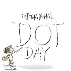 The International Dot Day website! Monday, September is International Dot Day, inspired by the book The Dot by Peter Reynolds! Library Lesson Plans, Library Lessons, Art Lessons, Library Ideas, Art Classroom, Classroom Activities, Book Activities, Elementary Library, Elementary Schools