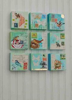 little bird collages