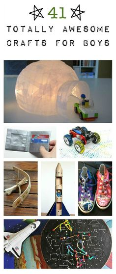 41 craft ideas for boys there are
